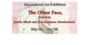 International Art Exhibit, The Other Face, opens May 5, 4 pm, with free artist reception