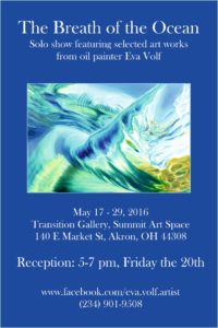 See Eva Volf's art in the Transition Gallery until May 29